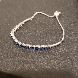 Jared sterling silver lab created sapphire bracele